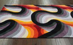 Rugs USA Keno Chaos Black Rug | Contemporary Rugs  Modern, home decor, interior design, art, fun, creative, area rugs.