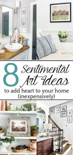 Sentimental Art Ideas | A list of ways to add meaning to your walls inexpensively with family artifacts, heirlooms, and special memories, plus ways to DIY them. Affordable Home Decor, Unique Home Decor, Home Decor Items, Diy Home Decor, Room Decor, Wall Decor, Wall Art, Diy Wall, Pallet