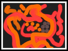 Study for an Abstract Painting Step N°1 Design by David Damour with Twisted Brush