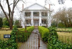 This white-columned two-story house is on 13 acres in a farming community six miles from Selma, Ala. Built in 1913 by the current owner's uncle, it is on the market for $650,000.