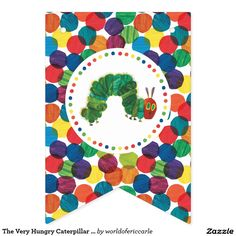 The Very Hungry Caterpillar Birthday bunting pendant flag banner party