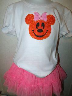 Halloween Minnie Face Pumpkin Shirt Onesie any by rowanmayfairs, $26.00