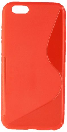 INSTEN Slim Fit TPU Gel Case for Apple iPhone 6 - Retail Packaging - Clear/Red. Keep your cell phone protected in style with this TPU rubber skin case accessory. Color: Clear Red S Shape. Material: TPU Rubber. Delivers instant all around protection from s