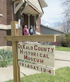 DeKalb County history on display -Open House today from noon to 4PM. The museum has been in operation since 2001 at the old Butler Public Library on 201 E. Main St.