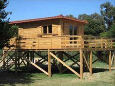 Casa de lemn pe piloni. hd stil in colaborare cu www.oncasa.ro