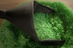 The Green Fairy Absinthe Fizzing Bath Salts Soak.  via Etsy. by sevenscruples