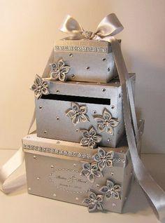 Wedding Gift Box, Card Box, Money Holder Envelope Reception Card Box ...