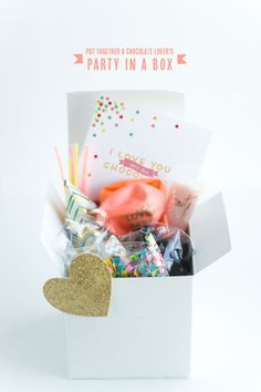 Chocolate Lover's Party In A Box DIY ideas