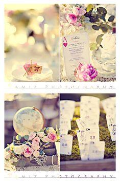 Esprit Alice au pays des merveilles!    http://cestquoicebruit.com/wp-content/uploads/2012/05/alice-in-wonderland-wedding.jpg