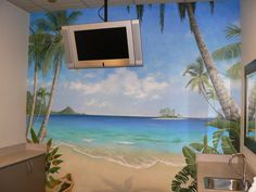 Dentist Office - Tropical Mural