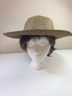 28f843ce Dark Brown Paper/Straw Sun Hat by Max Grey, 23 Inch Inside Circumference  Brim 4 & 1/8 Inches Foldable Hat Previously 18 Dollars ON SALE