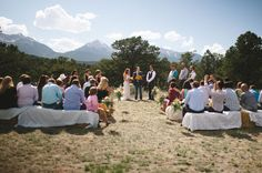 A Simple Mountain Wedding in Salida from @YFphotography @ululanievents via @coweddingsmag