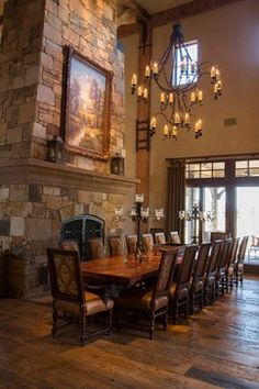 Tuscan Villa - traditional - dining room - houston - Ellis Custom Homes LLC
