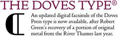 Doves Type™ Imprint Font