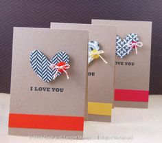 Simple and fun for valentine card sets!