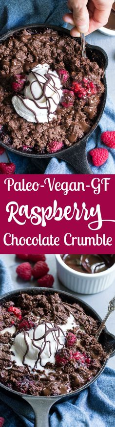 Paleo Raspberry Chocolate Crumble!!! - Low Recipe