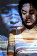 Double Indigo Light Stripes Girl