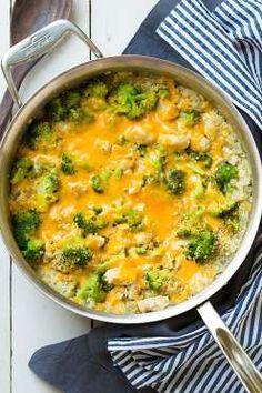 Get the recipe: cheesy chicken, quinoa, and broccoli - Cooking Classy
