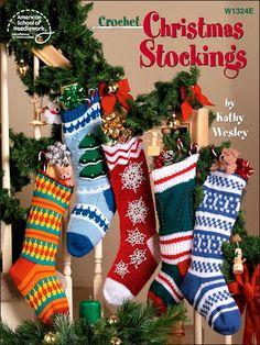 Christmas Crochet Stocking – Crochet — Learn How to Crochet Crochet Christmas Stocking Pattern, Crochet Stocking, Crochet Christmas Ornaments, Holiday Crochet, Christmas Patterns, Crochet Crafts, Crochet Projects, Crochet Ideas, Knit Crochet