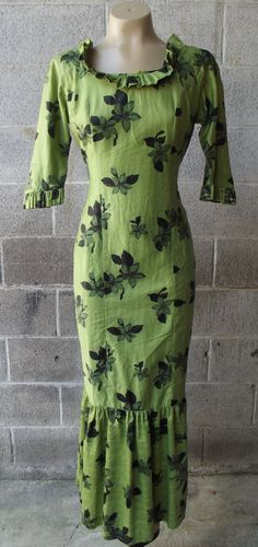 1960s Floor Length Hawaiian Wiggle Dress  by by PiecesBoutique, $48.00