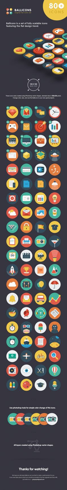 Flat Icon Set by Gimpo Studio (Nick & Oksana) - http://ballicons.net/