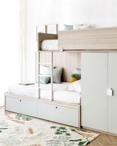 Search this significant image in order to look into today related information on bunk beds Kids Bedroom Designs, Bunk Bed Designs, Kids Room Design, Bed For Girls Room, Small Room Bedroom, Girl Room, Girls Bedroom, Teen Shared Bedroom, Kids Bedroom Furniture