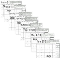 behavior managements calendar