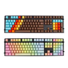 108 Keys Thick PBT Blank Key Caps OEM Profile Rainbow 1976 Mixed Color Keycaps Gamer for MX Switches Mechanical Keyboard