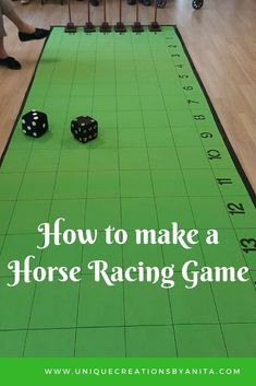 Tutorial to help make your own horse racing game. This game can be played by people of any age. : Tutorial to help make your own horse racing game. This game can be played by people of any age. Horse Race Game, Horse Games, Race Games, Horse Racing Party, Horse Party, Elderly Activities, Senior Activities, Youth Activities, Dementia Activities