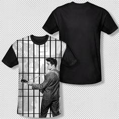 Elvis Presley The Whole Cell Block Photo All Over Front Sublimation T-shirt Top Mens Sizes: S, M, L, XL, 2XL, 3XL