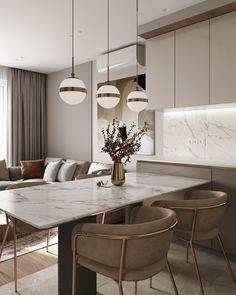 Small Space Interior Design, Luxury Kitchen Design, Kitchen Room Design, Home Room Design, Home Design Decor, Luxury Home Decor, Küchen Design, Dining Room Design, Home Interior Design