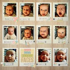 The many faces of you! Sweet baby smiles.
