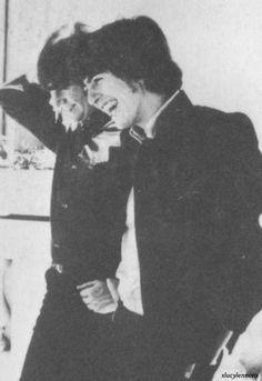 George Harrison and John Lennon (sweet :) )