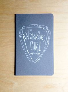 Love. :: warrior girl.  a hand illustrated journal by kelly barton on Etsy