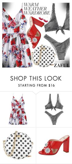 """""""How to Dress for a Heat Wave"""" by fattie-zara ❤ liked on Polyvore featuring Dolce&Gabbana, Fendi, beachday, floralprint, heatwave, mixingprints and zaful"""