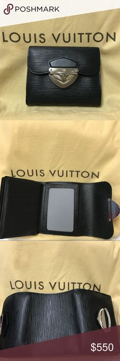 Authentic Louis Vuitton Joey Black Epi Wallet. Basically brand new Louis Vuitton Joey Epi Wallet. Used for 3 days. Tri-fold. Guaranteed Authenticity. Louis Vuitton Bags Wallets