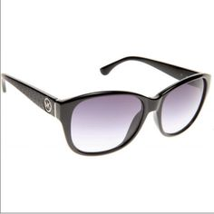 Michael Kors Sunglasses Authentic MK sunnies with black Fran's and purplish tinted lenses. 1 tiny scratch otherwise in excellent used condition. Comes with cleaning cloth and original hard shell black faux leather case. Michael Kors Accessories Sunglasses