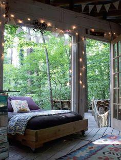 Super Creative biltmore sleeping porch just on homesaholic home design Dream Rooms, Dream Bedroom, Home Bedroom, Bedroom Decor, Bedroom Ideas, Summer Bedroom, Bohemian House, Bohemian Bedrooms, Bohemian Room