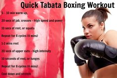 Tabata Boxing Workout - awesome cardio!