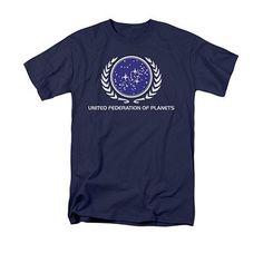 Star Trek United Federation Of Planets Navy T-Shirt