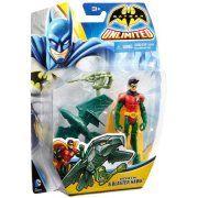 Batman Unlimited Robin & Blaster Hawk Action Figure