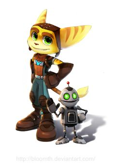 Ratchet and Clank by BloomTH on deviantART