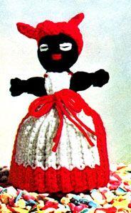 Crochet Home, Love Crochet, Vintage Crochet, Crochet Dolls, Knitting Patterns, Crochet Patterns, Crochet Decoration, Doll Dress Patterns, Yarn Bombing