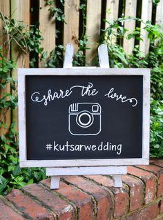 Share the Love Hashtag Wedding Sign with von OhHappyDayDesignCo