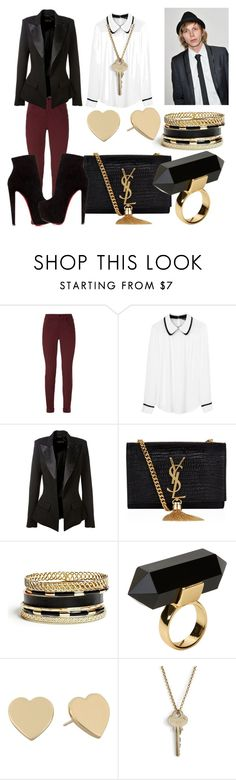 """""""#04 - Attractive Guys - Bronson Webb"""" by jerana97 ❤ liked on Polyvore featuring J Brand, Tara Jarmon, Alexandre Vauthier, Yves Saint Laurent, GUESS, Monki, Kate Spade, The Giving Keys and Christian Louboutin"""