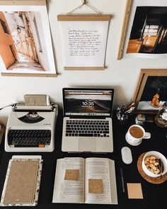 a lil peek at my productive morning workspace!🥰✨ got up a little early today and made myself an oatmeal for breakfast🧡 then i proceeded to… Study Desk, Study Space, Study Areas, Home Office Inspiration, Study Organization, School Organization Notes, Study Room Decor, Study Corner, School Study Tips