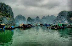 floating fishing village in Ha Long Bay - Vietnam