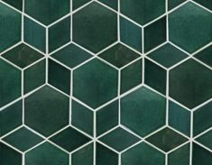 Create a one-of-a-kind pattern with our Green hexagon and diamond star pattern tile from Mercury Mosaics. Add style to your living space with these tiles! Floor Patterns, Star Patterns, Tile Patterns, Design Patterns, Geometric Tiles, Hexagon Tiles, Geometric Decor, Hexagon Pattern, Swatch