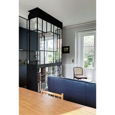 Build A Wall, Glass Partition, Light And Space, Tiny Spaces, Store Design, Kitchen Furniture, Entryway Decor, Home Kitchens, Sweet Home
