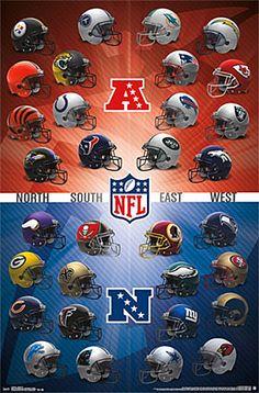 NFL Football Helmets Official Wall Poster (All 32 Team Logos) – Trends International Offizielles Wandplakat der NFL-Footballhelme (alle 32 Team-Logos) – Costacos Sports Nfl Football Helmets, Kansas City Chiefs Football, Nfl Football Teams, Football Boys, Football Memes, Pittsburgh Steelers, Football Stuff, Steelers Team, Nfl 49ers